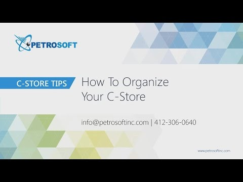 Webinar 1 - How To Organize Your C-Store