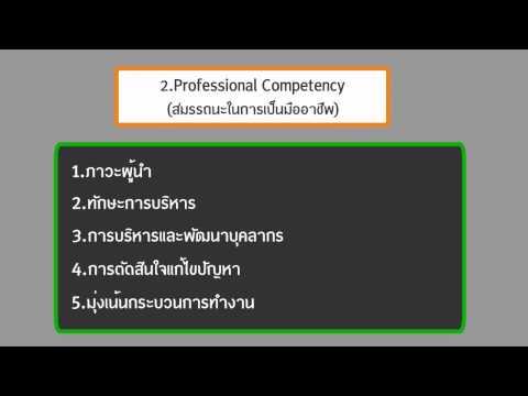 การประเมิน Competency สำหรับเลขานุการ หัวหน้าฝ่าย และระดับชำนาญการพิเศษ