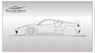 How to draw a Ferrari 458 Italia GT2