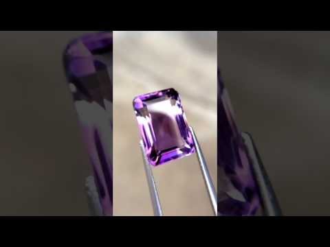 9.53ct Clean Eye Unheated Natural Octagon Purple Amethyst Brazil