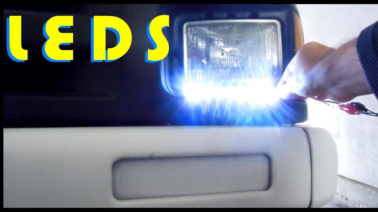 Como instalar luces led blancas frontales en el auto YouTube