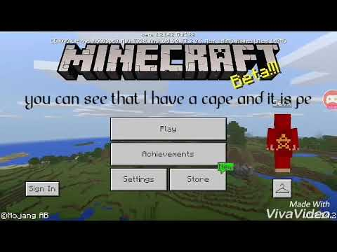 How to get cape in Minecraft pe no mods