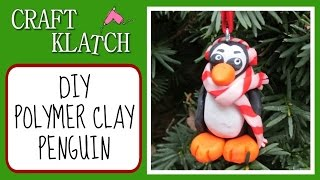 Polymer Clay Penguin Christmas Ornament Diy Craft Klatch Christmas Series