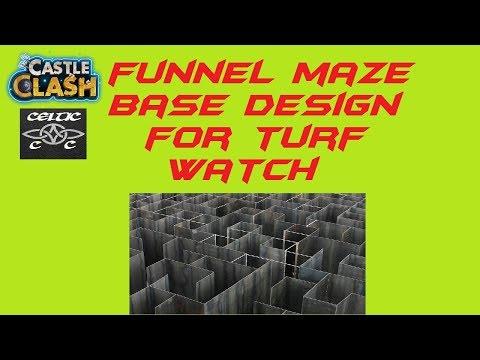Funnel Maze Base Design For Turf Watch Castle Clash