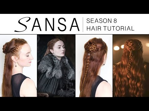 Game of Thrones Season 8 Hair Tutorial - Sansa Stark - YouTube
