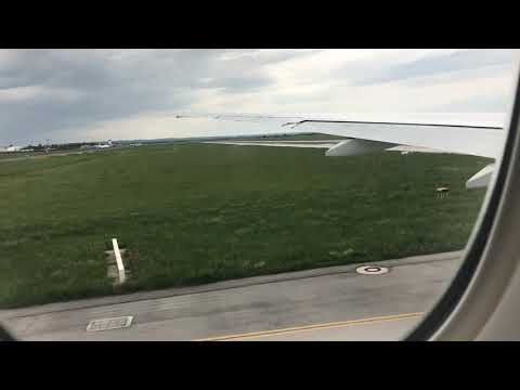Emirates Boeing 777-300ER take off from Zagreb airport runway 23 window seat