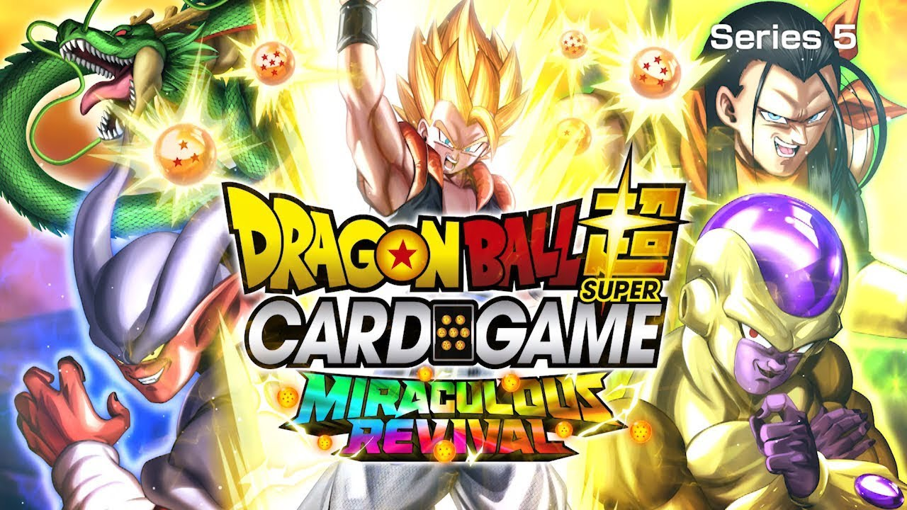 dragon ball super card game series5 miraculous revival youtube