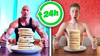I Ate & Trained Like THE ROCK for 24 Hours