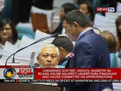 Andaya, nagbitiw na bilang House majority leader para pamunuan ang House Committee on Appropriations