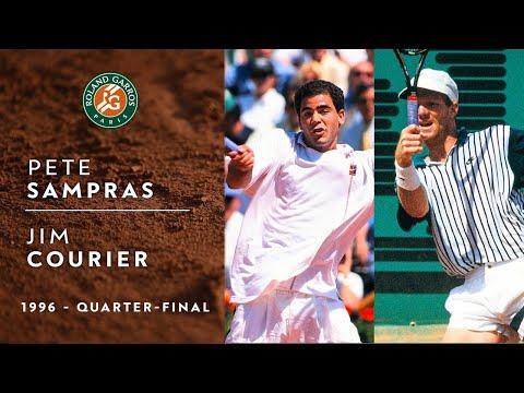 Pete Sampras Vs Jim Courier - Quarter-final | Roland-Garros 1996