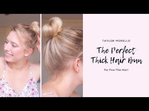 thick-hair-bun-tutorial-for-fine-thin-hair!