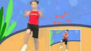 新式健身操1~3年級分解動作