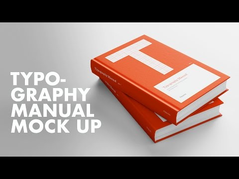 Typography Manual Mock Up Book Cover Speed Design - 동영상