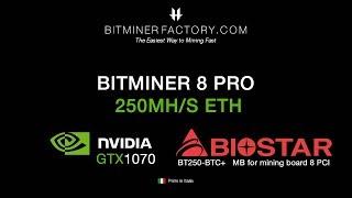 250 MH/s - Mining Rig con 8GPUs GTX1070 Nvidia MSI Quicksilver Edition