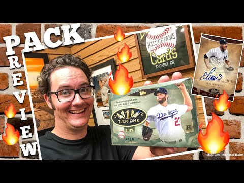 PACK PREVIEW!!™️ 2019 Topps Tier One Baseball Cards!