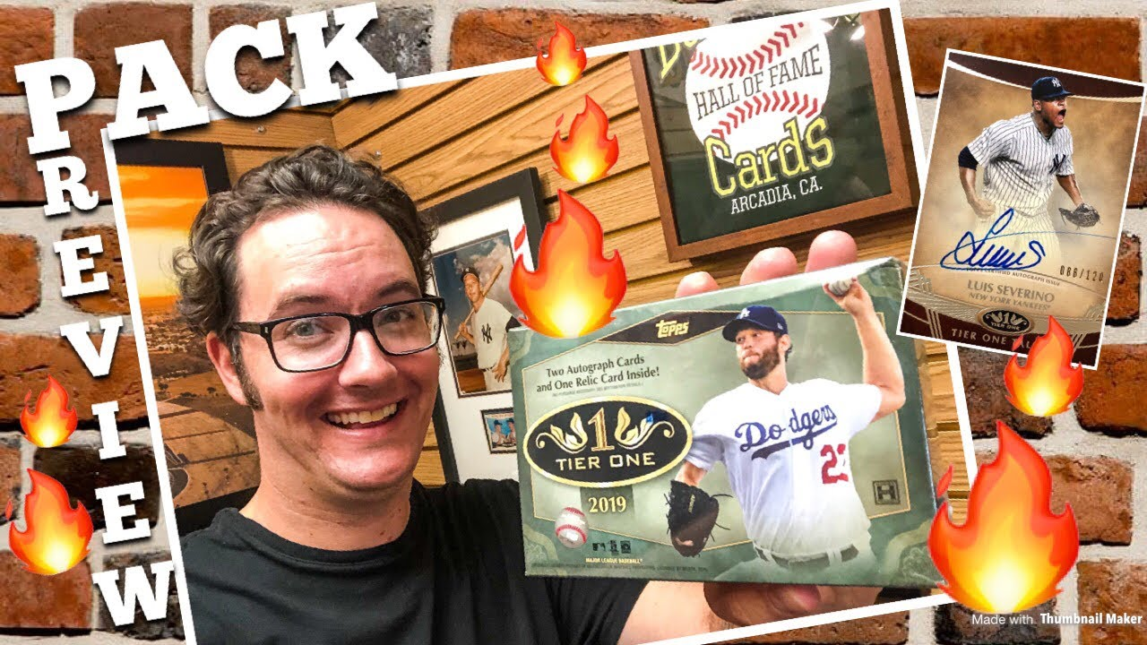 Pack Preview 2019 Topps Tier One Baseball Cards
