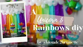 DIY Unicorns and Rainbows | BLONDE2BRUNETTE | Miami Bloggers