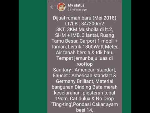 Jual rumah Baru di Mustika Jaya, Bekasi 1.3M nego - YouTube