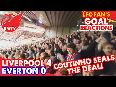 Coutinho Seals The Deal! | Liverpool 4-0 Everton | LFC Goal Reactions