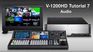 Roland V-1200HD Tutorial 7: Basic Audio Setup
