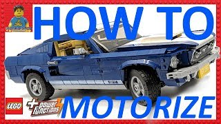 TUTORIAL How To Motorize The LEGO Ford Mustang 10265