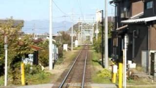 近江鉄道 モハ223前面展望 鳥居本~フジテック前