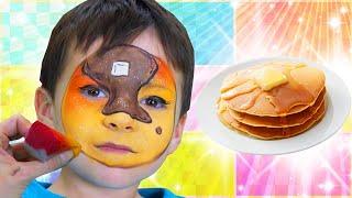 Pancake Face Paint | Food Face Paint
