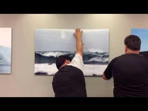 Plexiglass acrylic surf photos installation measurements