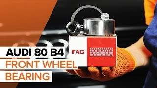 Fitting Wheel bearing kit AUDI Q5 (8R): free video