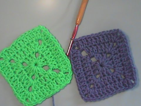 How To Crochet A Solid Granny Square Youtube
