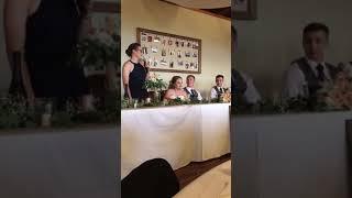 Bri and GW wedding. Speeches