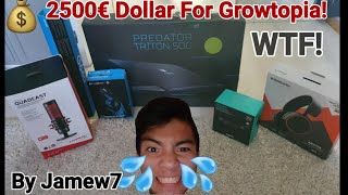 Using 2500$ Dollar For Growtopia! WTF! (RIP MONEY!) OMG!! - Growtopia
