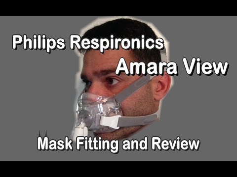 Amara View Philips Respironics CPAP BiPAP Full Face Mask Fitting And Review.  FreeCPAPAdvice.com
