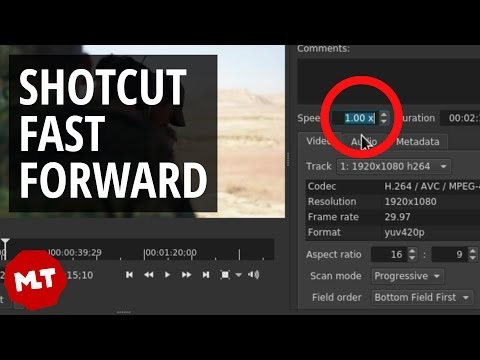 How to Fast Forward Part of Video in Shotcut