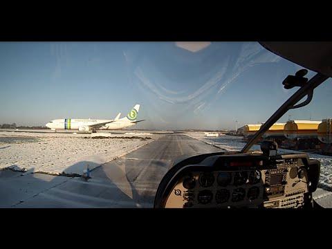 Rotterdam Airport EHRD winter wonderland, live ATC