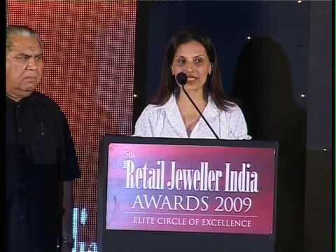 Poonam Soni, Asia's leading jewellery designer's speech at Retail Jeweller India Awards 2009
