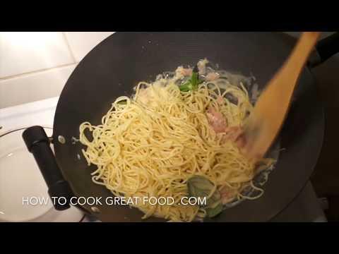 Cream Ham Pasta Sauce Recipe - Creamy Spaghetti Italian