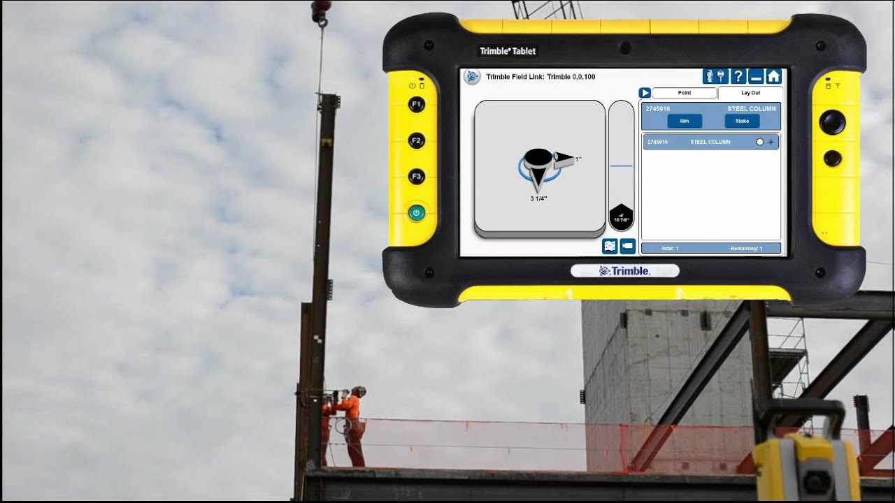 Column Alignment Using Trimble Field Link for Structures and Fixed Prism