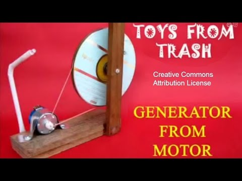 Generator From Motor English Youtube