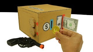 How to Make Personal Bank Saving Coin and Cash with Gun - Digit Safe Lock
