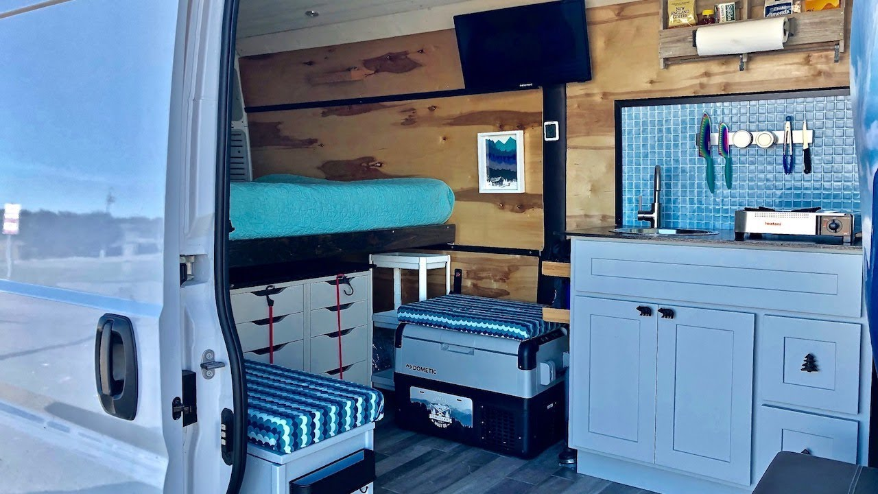 Gorgeous Camper Van Converted For Full-Time Travel