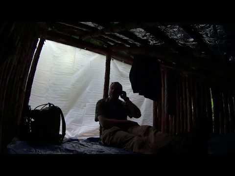Two Deer Camp, Super Shelter: First Rain Day Visit.