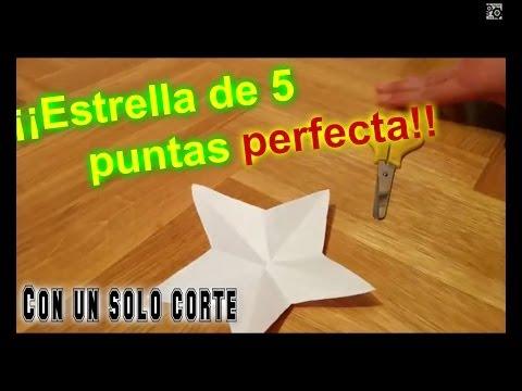 Tutorial: Cómo hacer una estrella de 5 puntas perfecta con un sólo ...