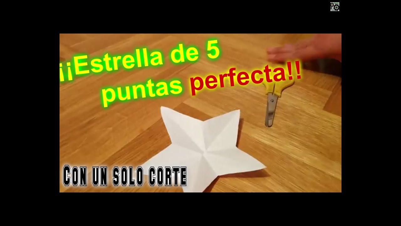 tutorial cmo hacer una estrella de 5 puntas perfecta con un slo corte youtube