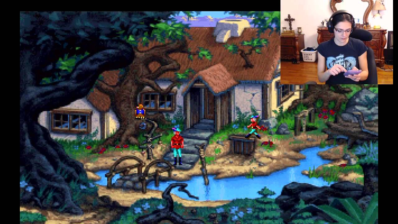 Adrianne Curry Does A Kings Quest V Playthrough YouTube