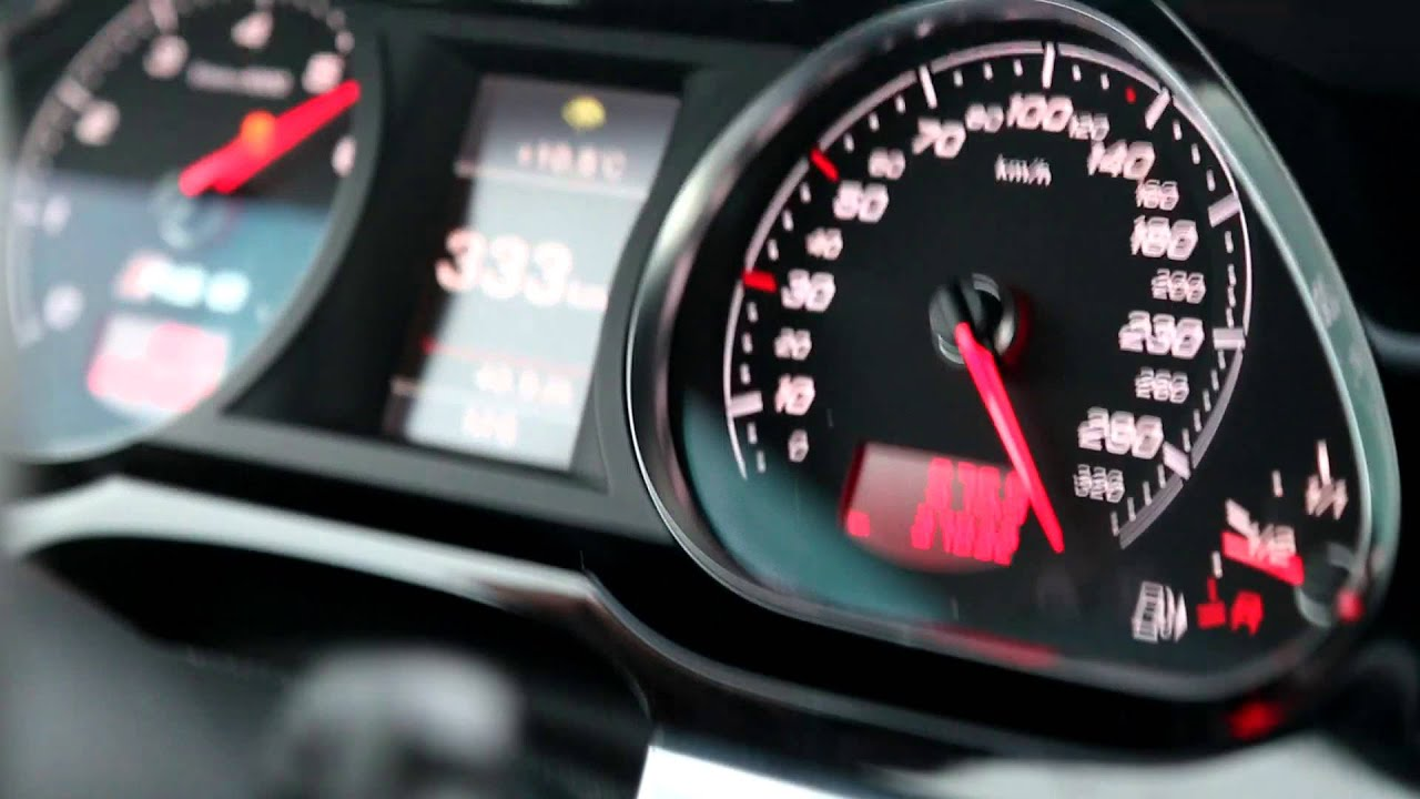 Audi RS6 Top Speed - YouTube