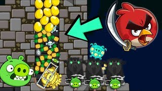 Bad Piggies - PIG THIEF HIDING 30 PINEAPPLE AND 30 ANGRY BIRDS