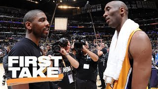 Stephen A. asks Kyrie Irving about Kobe Bryant's influence | First Take | ESPN