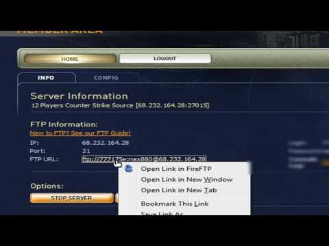 How To FTP Your Counter Strike Source Server From Game Servers