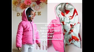 DIY [Beginner Sewing] Toddler Puffer Jacket